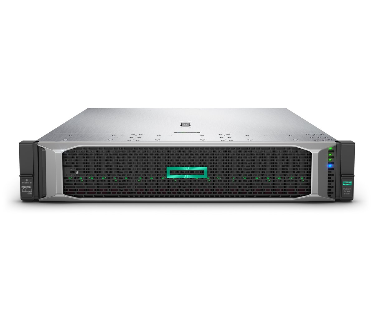 slide 5 of 10,show larger image, hpe proliant dl380 gen10 4208 1p 32gb-r p408i-a nc 8sff 500w ps server