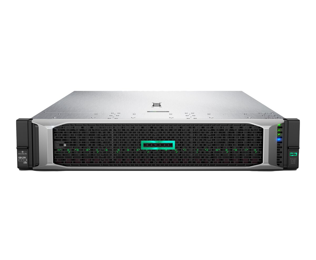 slide 7 of 10,show larger image, hpe proliant dl380 gen10 4208 1p 32gb-r p408i-a nc 8sff 500w ps server