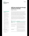 HPE Data Sanitization Storage and Server Services data sheet