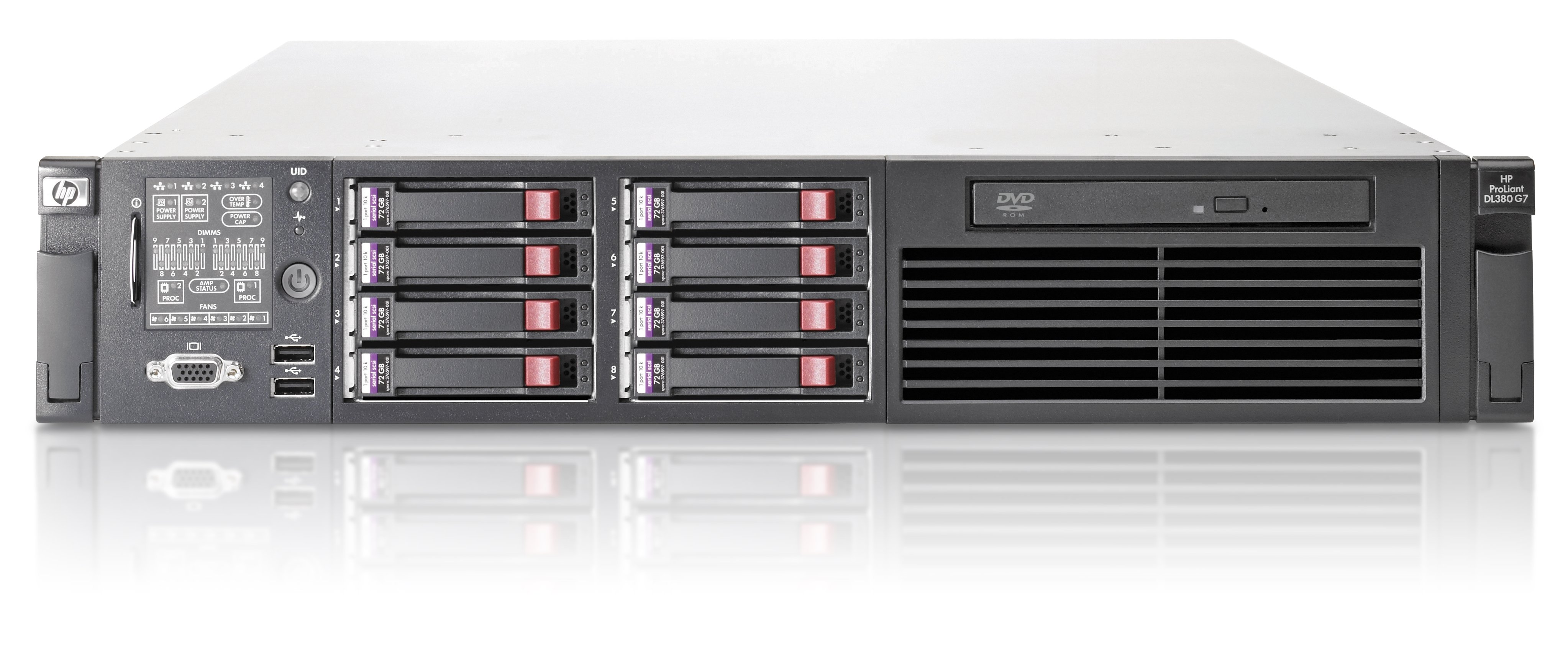 HPE Hewlett Packard Enterprise ProLiant DL380 G7 server 2 4 GHz Intel®  Xeon® 5000 Sequence E5645 Rack