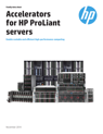 Accelerators for HPE ProLiant servers to enable scalable and efficient high-performance computing family data sheet