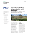 University of Würzburg with HPE server and storage solution - case study (English)