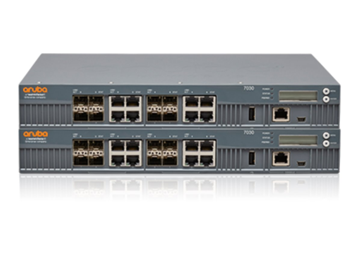 slide 1 of 1,show larger image, aruba 7030 (us) 8p dual pers 10/100/1000base-t/1gbase-x sfp 64 ap and 4k clients controller