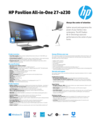 AMS HP Pavilion All-in-One 27-a230 Datasheet