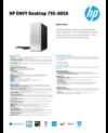 AMS HP ENVY Desktop 795-0050 Datasheet