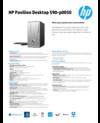 AMS HP Pavilion Desktop 590-p0050 Datasheet