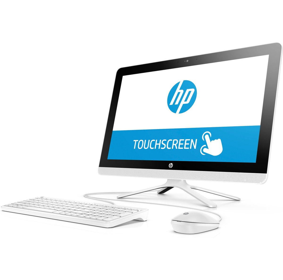 HP 22-b013w Snow White All-in-One PC with 21 5