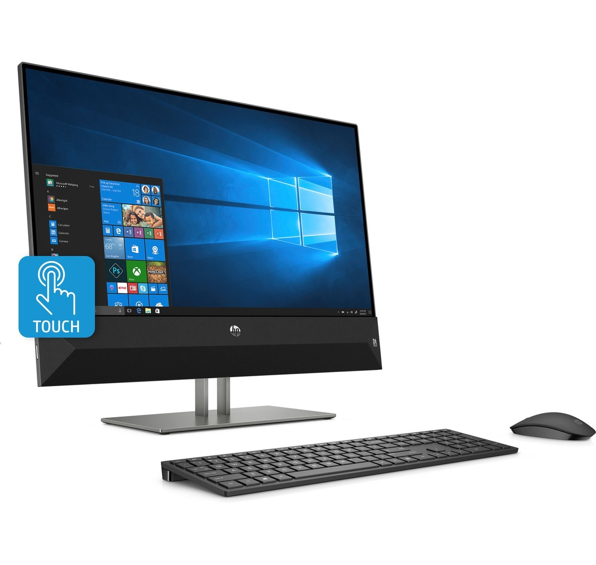 HP Pavilion 24 xa0020 All In One PC 23.8 Touch Screen AMD Ryzen 5 8GB Memory 2TB Hard Drive Windows 10 Home -Office Depot
