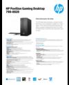 AMS HP Pavilion Gaming Desktop 790-0020 Datasheet