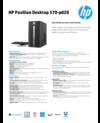 AMS HP Pavilion Desktop 570-p020 Datasheet
