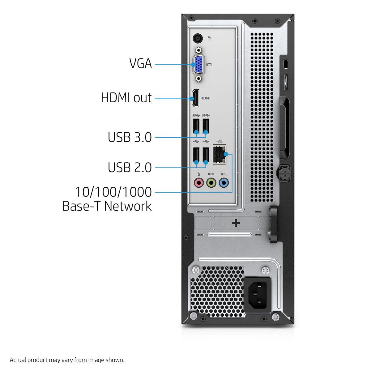 diapositiva 1 de 5, muestra la imagen más grande, escritorio hp slimline - 270-a010