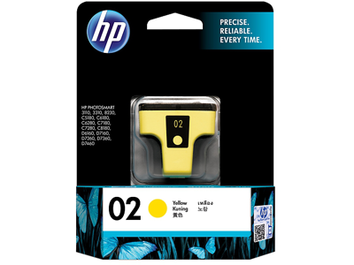 HP 02 Yellow Original Ink Cartridge