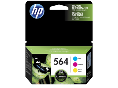 HP 564 3-pack Cyan/Magenta/Yellow Original Ink Cartridges
