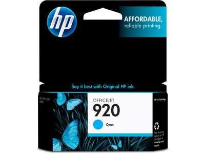 HP 920 Cyan Original Ink Cartridge