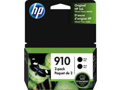 HP 910 2-pack Black Original Ink Cartridges