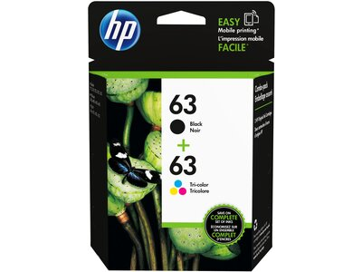 HP 63 2-pack Black/Tri-color Original Ink Cartridges