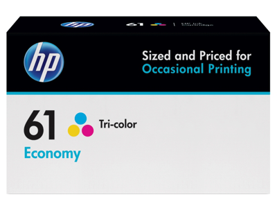 HP 61 Economy Tri-color Original Ink Cartridge