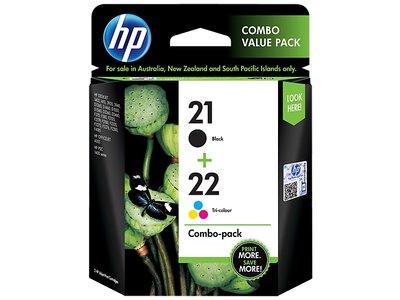 HP 21 Black/22 Tri-color 2-pack Original Ink Cartridges