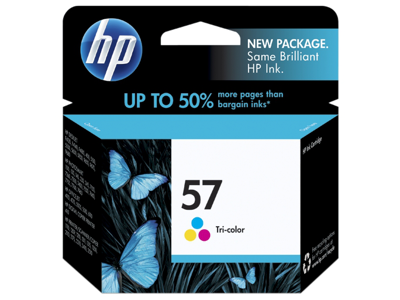 HP 57 Tri-color Original Ink Cartridge