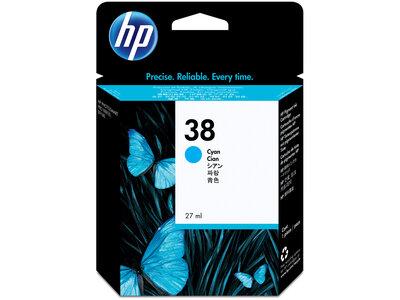 HP 38 Cyan Pigment Original Ink Cartridge