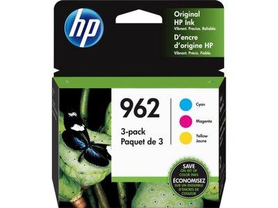 HP 962 3-pack Cyan/Magenta/Yellow Original Ink Cartridges