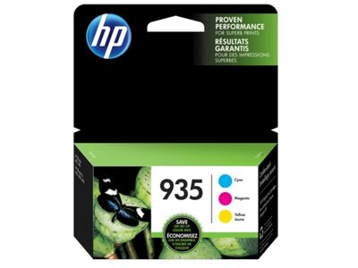 HP 935 3-pack Cyan/Magenta/Yellow Original Ink Cartridges