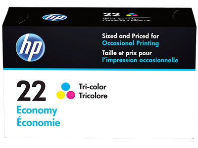 HP 22 Economy Tri-color Original Ink Cartridge