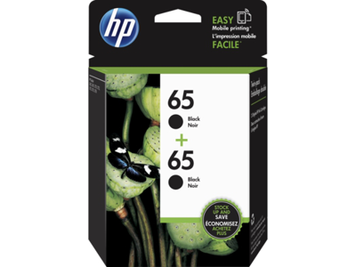 HP 65 2-pack Black Original Ink Cartridges