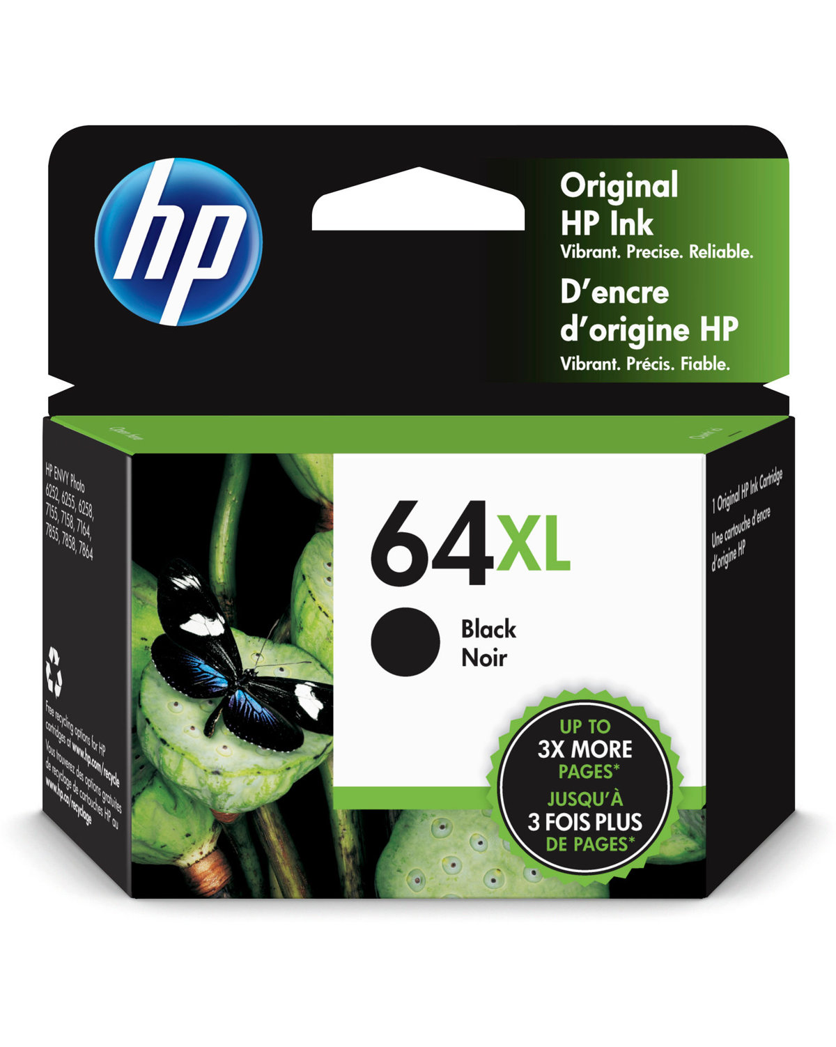 Hp 64xl Black High Yield Original Ink Cartridge N9j92an Office Depot