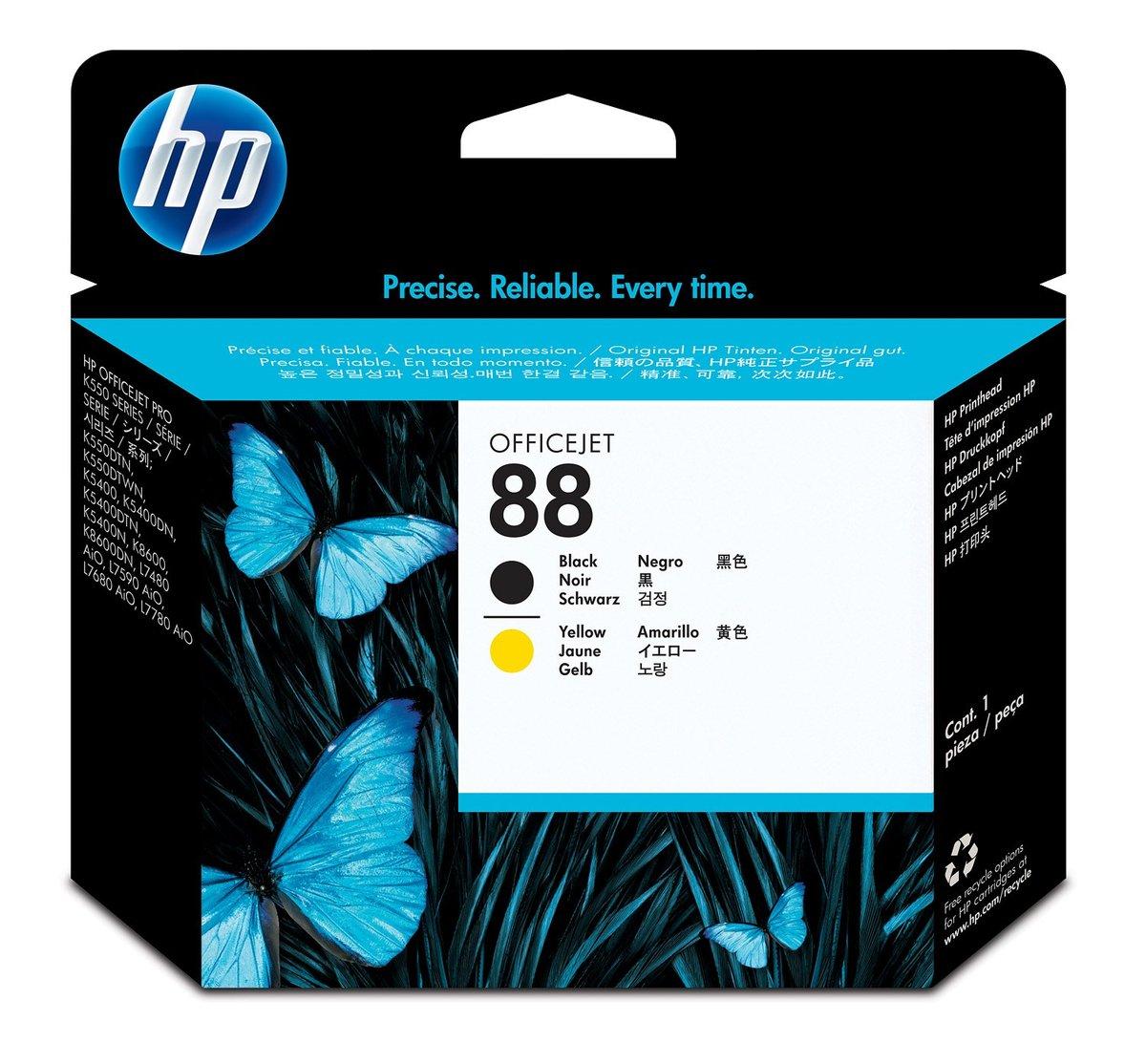 HP 88 Black & Yellow Printhead For HP Officejet Pro K550,K550dtn, K550dtwn  (C9381A) - Newegg.com