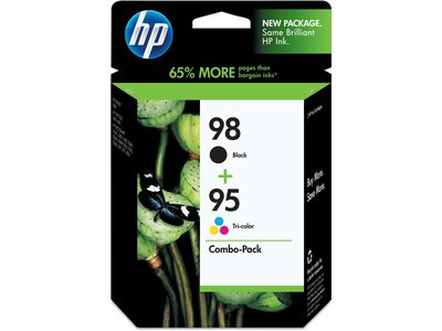 HP 98 Black/95 Tri-color 2-pack Original Ink Cartridges