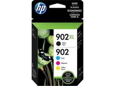 HP 902XL High Yield Black/902 Cyan/Magenta/Yellow 4-pack Original Ink Cartridges