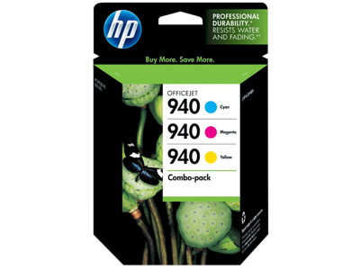 HP 940 3-pack Cyan/Magenta/Yellow Original Ink Cartridges