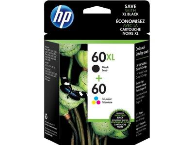 HP 60XL High Yield Black/60 Tri-color 2-pack Original Ink Cartridges