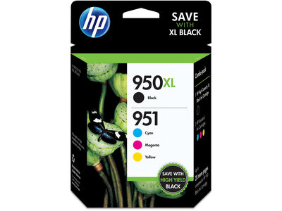 HP 950XL High Yield Black/951 Cyan/Magenta/Yellow 4-pack Original Ink Cartridges