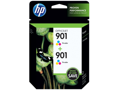HP 901 2-pack Tri-color Original Ink Cartridges