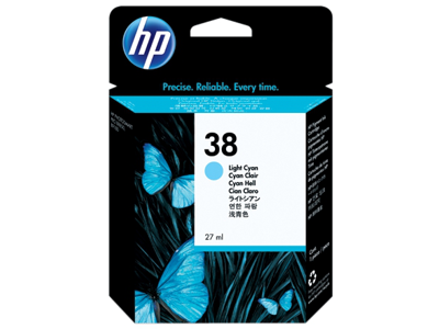 HP 38 Light Cyan Pigment Original Ink Cartridge