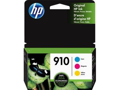 HP 910 3-pack Cyan/Magenta/Yellow Original Ink Cartridges