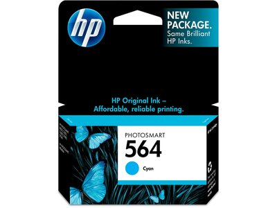 HP 564 Cyan Original Ink Cartridge