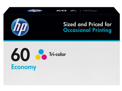 HP 60 Economy Tri-color Original Ink Cartridge
