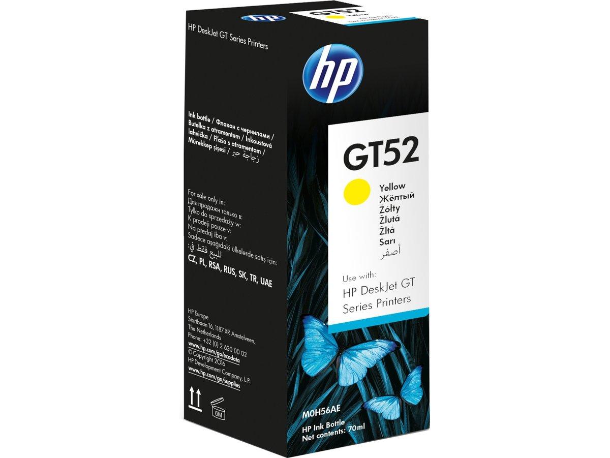 HP GT52 Yellow Original Ink Bottle - M0H56AA