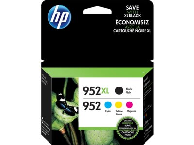 HP 952XL High Yield Black/952 Cyan/Magenta/Yellow 4-pack Original Ink Cartridges