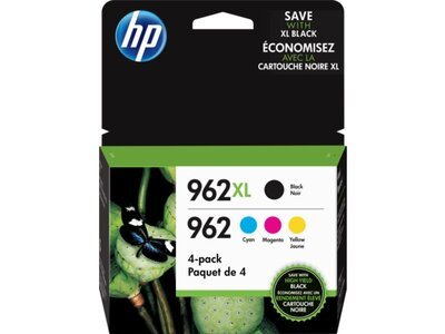 HP 962XL High Yield Black/962 Cyan/Magenta/Yellow 4-pack Original Ink Cartridges