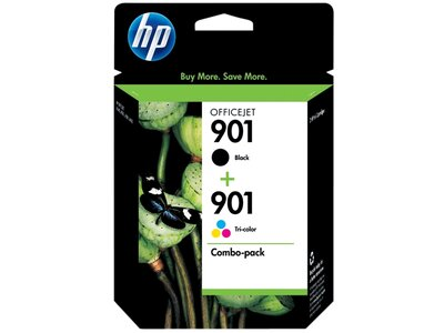 HP 901 2-pack Black/Tri-color Original Ink Cartridges