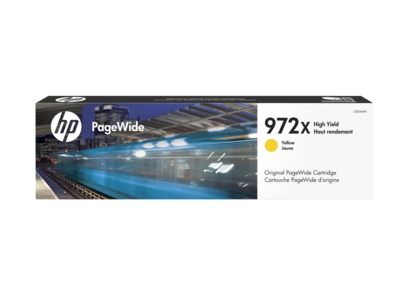 HP 972X High Yield Yellow Original PageWide Cartridge