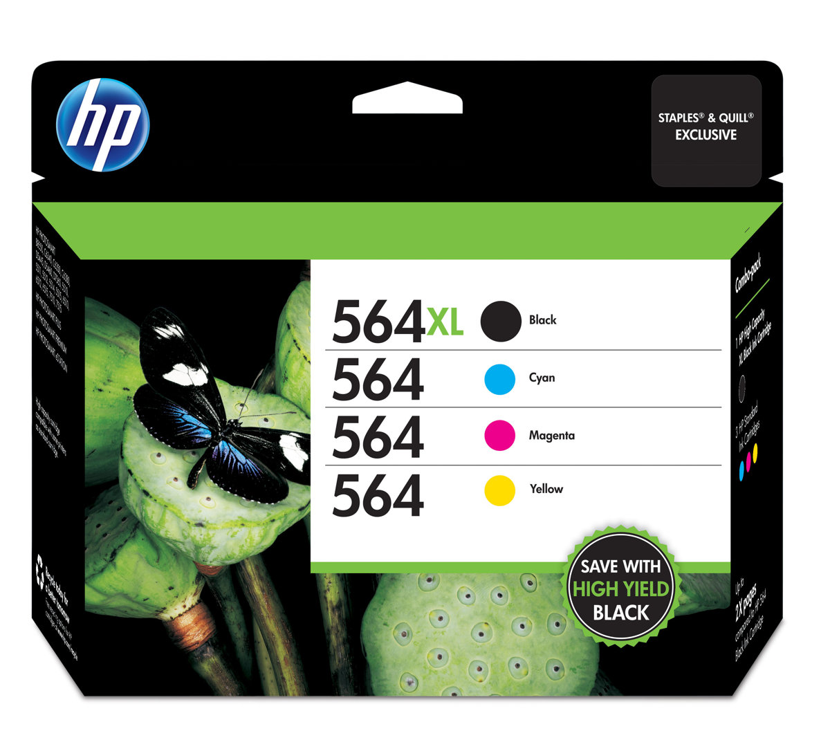 HP 564XL High Yield Black And HP 564 CyanMagentaYellow Ink Cartridges Pack  Of 4 by Office Depot & OfficeMax