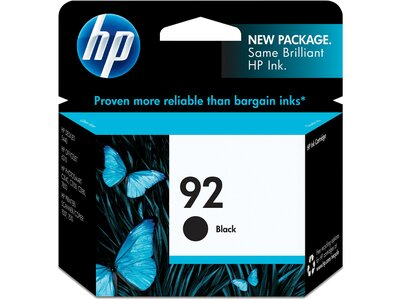 HP 92 Black Original Ink Cartridge