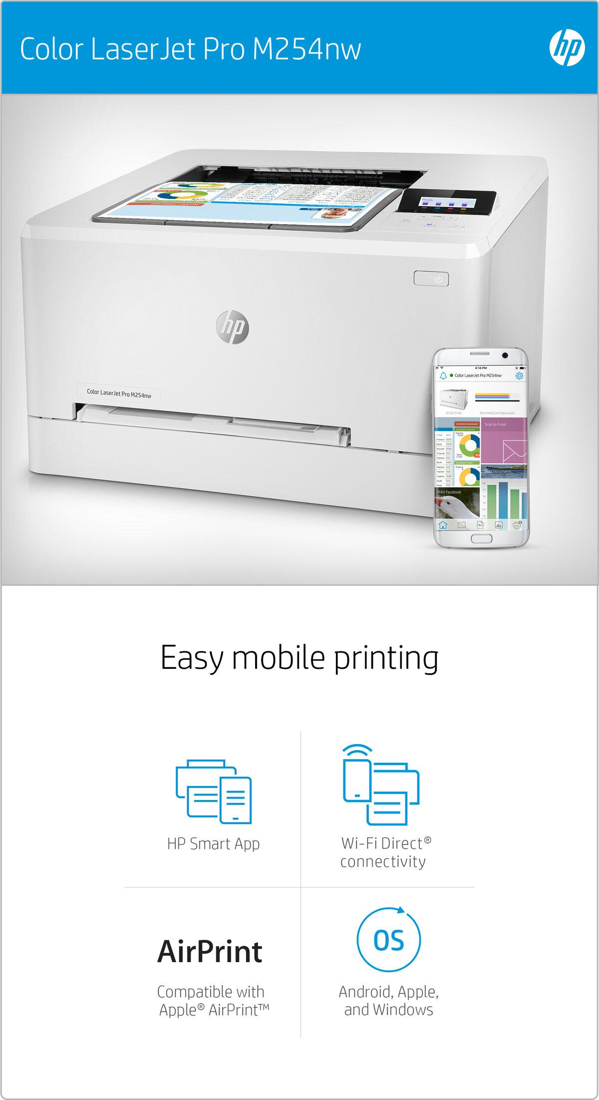 HP Color LaserJet Pro M254nw - printer - colour - laser / T6B59A#B19