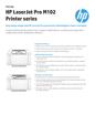 APJ Datasheet for HP LaserJet Pro M102 Printer series (English)