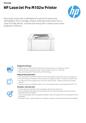 APJ Datasheet for HP LaserJet Pro M102w Printer (English Version) (English)